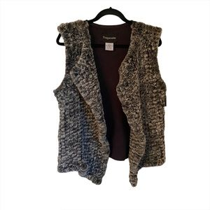 NEW Bagatelle Faux Fur Vest SZ M